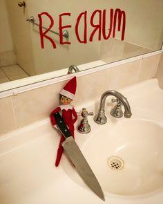 redrum🔪redrum🔪redrum🔪redrum🔪redrum🔪redrum 🔪redrum 🔪redrum🔪  14 December 2019 The Elf, Elf On The Shelf, December, Sink, Home Decor, Sink Tops, Interior Design, Home Interior Design, December Daily