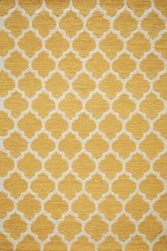 Momeni Geo GEO-4 Yellow Area Rugs under kitchen table
