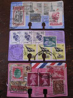 altered Rolodex cards via http://andria-drawingnear.blogspot.com.