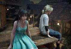Tifa Final Fantasy, Final Fantasy Cloud, Final Fantasy Vii Remake, Cloud And Tifa, Cloud Strife, Tifa Lockhart, Cloudy Day, Anime Comics, Cosplay