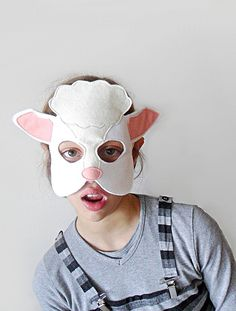 White sheep mask for nativity plays, Halloween or Carnival - bhbkidstyle.com