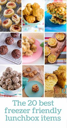 Freezer friendly lunchbox inspiration to get you baking and ready for back to school!