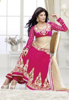 #Pink Churidar Kameez