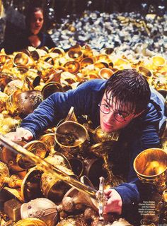 Harry Potter aims for the Hufflepuff Cup - Deathly Hallows Part 2