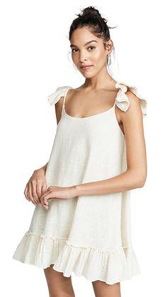 77dd88287f7c66 SUNDRESS Mimi Short Dress | SHOPBOP Halter Dress Summer, Dress Cuts,  Embroidered Flowers,
