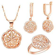 Find More Jewelry Sets Information about Jewelry Sets 925 Sterling Silver CZ Zircon Chinese Style Classic Women Round With Flower Crystal Rose Gold Plated Ulove T144,High Quality jewelry toggle,China cz designer jewelry Suppliers, Cheap cz set from ULove Fashion Jewelry Store on Aliexpress.com