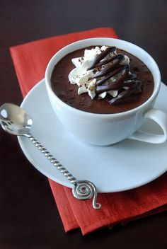 Chocolate Almond Mousse (V/GF). Instead of espresso, I think I'll try chai tea mix. =D (chocolate moose vegan) Chocolate Coffee, Chocolate Desserts, Homemade Chocolate, Craving Chocolate, Almond Chocolate, Chocolate Heaven, Chocolate Decorations, White Chocolate, Just Desserts