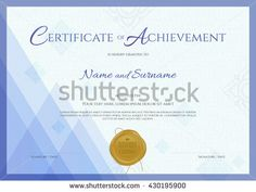 Certificate Of Achievement Template In Vector RoyaltyFree Stock