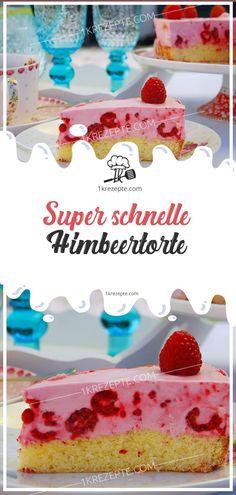 Super schnelle Himbeertorte #schnelle #Himbeertorte #Himbeer #torte