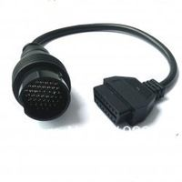Free shipping For Iveco 38pin truck diagnostic cable For IVECO 38 PIN obdii cable