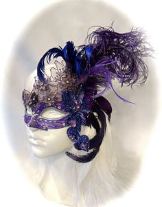 Le Crocus Masquerade Mask Costume Mardi Gras by Marcellefinery