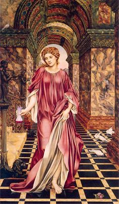 I like how Evelyn de Morgan uses texture to tell a story in this painting. This is Medea. The marble, even her cloths, look heavy. You can feel this huge weight that seems like it's blocking her in on all sides so her only option is to continue forward. OK it's kind of dark, but still a pretty awesome painting