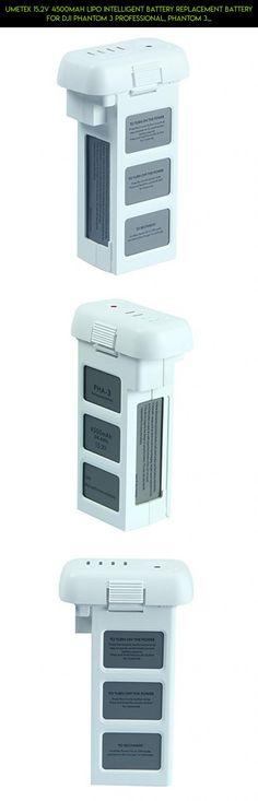 UMETEK 15.2V 4500mAh LiPo Intelligent Battery Replacement battery for DJI Phantom 3 Professional, Phantom 3 Advanced, Phantom 3 Standard, 4K Drones #oem #fpv #battery #plans #kit #camera #3 #tech #gadgets #phantom #technology #standard #racing #dji #products #shopping #parts #drone