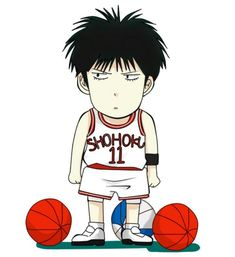 Explore Rukawa Kaede Wallpapers on WallpaperSafari Anime Chibi, Anime Manga, Nba Basketball, Slam Dunk Manga, Best Dunks, Inoue Takehiko, Collages, Manga Illustration, Basketball