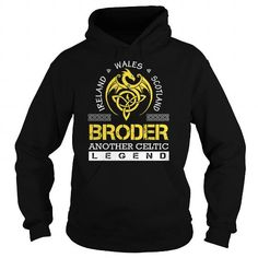 Awesome Tee BRODER Legend - BRODER Last Name, Surname T-Shirt T shirts