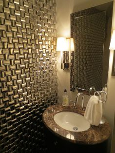 Textured Wall In Half Bath