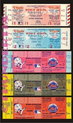 Baseball New York Mets Vintage Ticket Stubs 2000 World Series, World Series Tickets, Game Tickets, Ticket Stubs, Red Wings Tickets, Mets Game, Basketball Tickets, Buy Basketball, Flowers