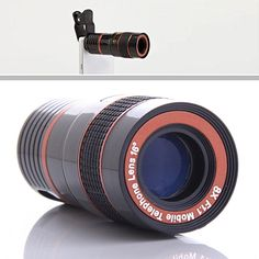 Get clear images 8 times closer with this Telephoto PRO Lens. Make your pictures stand out like a PRO with added clarity and details by zooming in. The lens is an adjustable zoom lens that clips on any Phone or Tablet.  This is ideal for photography in sports arena and for the outdoors to capture nature!