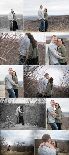 Engagement Session at sunset in Kansas. Erin Kata Photography.