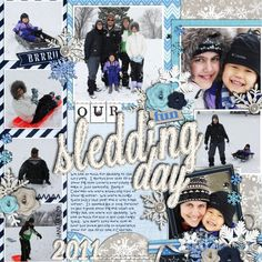 "Digital Scrapbook Layout created by Fonnetta using ""Winter Sparkle"" kit by Britt-ish Designs"