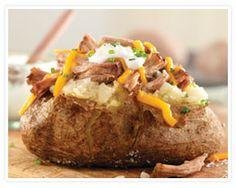 Pulled Pork Baked Potato, a recipe I developed for the National Pork Board