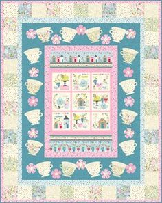 Garden Party by Tea & Sympathy | Garden Party Quilt #2 - Tea Time FREE PDF included