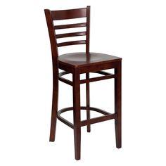 Flash Furniture 31 in. Hercules Wood Ladder Back Wood Seat Restaurant Bar Stool - XU-DGW0005BARLAD-