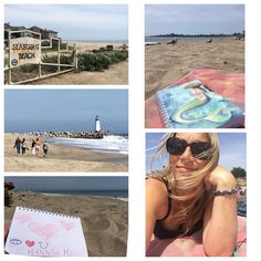 Santa Cruz CA: Spent time today recharging at the beach.. Today is one year from the last day I saw Hannah in person. Grateful I was able to take a half day mental health day from work to let go cry release. To journal to draw. #healing #prayers #imissyouhannah #staycation #beach #mermaid #seabright #lighthouse #walking #sunshine #santacruz #ocean #grace #sadness #grief #yoga #travelblog #travelagent #travelgram #california #norcal #instagood #lighthouse #surfer #love #release…