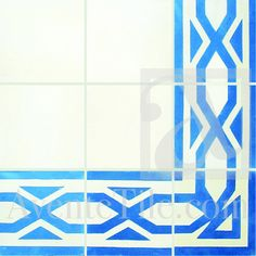 "Traditional  Salcedo Border Cement Tile 8"" x 8""...Avent Tile"