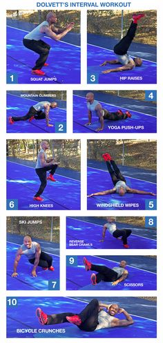 Skip the gym and try Dolvett's at-home interval workout! Follow the motions step-by-step for an easy routine that can be done anywhere. // #BiggestLoser #IntervalWorkout
