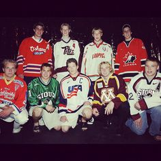 2003 NHL draft class, one of the best ever - Back row:  Nathan Horton, Eric Staal, Andrei Kostitsyn, Marc-Andre Fleury.  Front row:  Milan Michalek, Zach Parise, Ryan Suter, Thomas Vanek, Dustin Brown