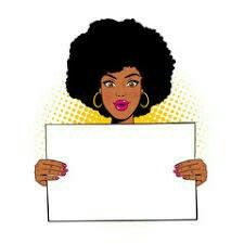 Young sexy surprised african american woman with open mouth holding blank board for your text. Vector illustration in retro comic pop art style isolated on white background. Pop Art Women, Black Women Art, Pop Art Girl, Black Girl Art, Logo Online Shop, Magic Illusions, Invitation Background, Black Cartoon, Retro Pop