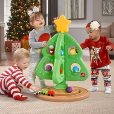 My First Christmas Tree™ by includes a star, ornaments, and a train so kids can decorate their very own tree. View and shop this Christmas tree toy now. Christmas Tree Toy, Christmas Crafts For Gifts, Babies First Christmas, Christmas Baby, Christmas Traditions, All Things Christmas, Christmas Holidays, Christmas Decorations, Christmas Ideas