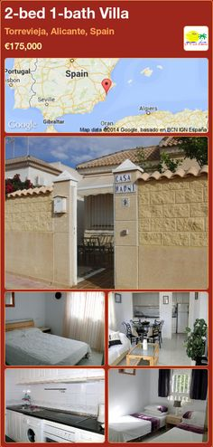 2-bed 1-bath Villa for Sale in Torrevieja, Alicante, Spain ►€175,000