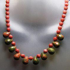 Unakite Drop Necklace