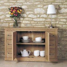 solid oak 6 drawer side board mobel at store solid oak 6 drawer contemporary side board with an adjustable height shelf