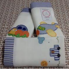 Produto confeccionado com tecido 100% algodão e com fraldas de boa qualidade  Aplique em patchwork, diversos temas e cores.