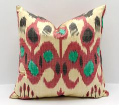 15x15 ikat pillow cover cushion pillow case cushion by SilkWay