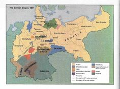 Map of German Empire, 1871