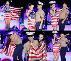 She kissed a marine and liked it! Katy Perry makes a sailor's dream come true as they share a smooch during Fleet week