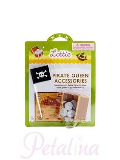 Lottie could sit for hours retelling the tales of Grace O'Malley, the most notorious pirate queen ever. The pieces of 8 became the worlds first global currency. Petalina stocks many other Lottie items such as Lighthouse Keeper Lottie.  Perhaps she could be friends with Pirate Queen Lottie?