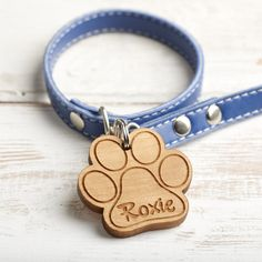 Personalised Wooden Dog Tag – Whatnot Wood Craft