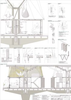 Because of Engineering we can come up with designs like blue prints to help us create and innovate things like buildings or machines. Architecture Concept Drawings, Architecture Graphics, Architecture Board, Architecture Details, Landscape Architecture, Interior Architecture, Construction Drawings, Architectural Section, Technical Drawing