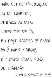 Samba e Amor - Chico Buarque
