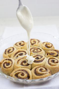 EASY Mini-Pumpkin Sweet Rolls with cream cheese frosting