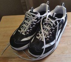 Women's Size 7 Black & White Skechers Shape-Ups Sneakers Tennis Shoes #Sketchers #WalkingHikingTrail