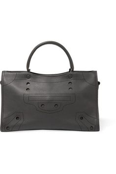 Balenciaga - Blackout City Perforated Matte-leather Tote - Dark gray - one size
