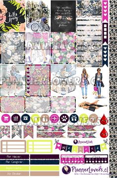 Free Printable We Love Spring Planner Stickers. Planner Pages, Planner Ideas, Hourly Planner, Mini Happy Planner, Planner Decorating, Printable Planner Stickers, Free Printables, Planners, Journaling
