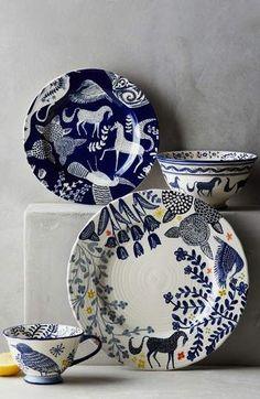ANTHROPOLOGIE Saga Ceramic Side Plate #kitchen #decor