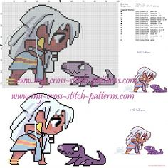 Chibi Kida cross stitch pattern